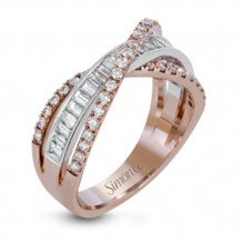 Simon G. 18k Two Tone Gold Diamond Ring - MR2660