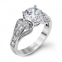 Simon G. 18k White Gold Diamond Engagement Ring - TR565