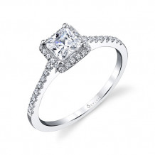 0.23tw Semi-Mount Engagement Ring With 4.5X4.5 Princess Head - sy696 pr