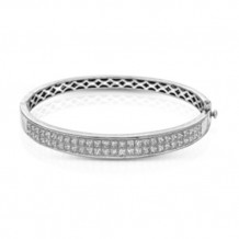 Simon G. 18k White Gold Diamond Bangle - MB1461
