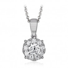 Simon G. 18k White Gold Diamond Pendant - MP1833