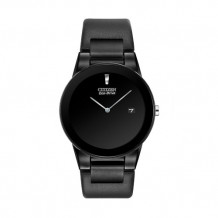 Citizens Eco Drive Black Axiom With Black Leather Band - AU1065-07E