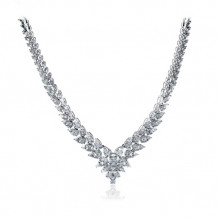 Simon G. 18k White Gold Diamond Necklace - LP4274