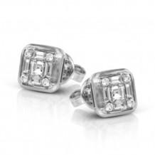 Simon G. 18k White Gold Diamond Earrings - LE4449