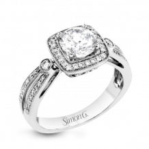 Simon G. 18k White Gold Diamond Engagement Ring - TR619