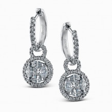 Simon G. 18k White Gold Diamond Earrings - ME1507