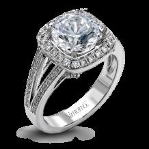 Simon G. 18k White Gold Diamond Engagement Ring - TR484