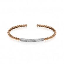 Simon G. 18k White Gold Diamond Bangle Bracelet - LB2088