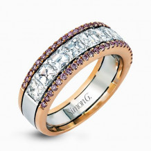 Simon G. 18k Two-Tone Gold Diamond Wedding Band - MR2338