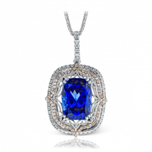 Simon G. 18k White Gold Diamond Gemstone Pendant - MP1687