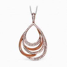Simon G. 18k Rose Gold Diamond Pendant - MP2022