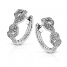 Simon G. 18k White Gold Diamond Earrings - TE473