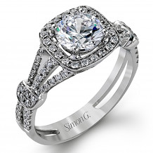 Simon G. 18k White Gold Engagement Ring - TR418/405639