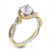 Simon G. 18k Two-Tone Gold Diamond Engagement Ring - MR2708
