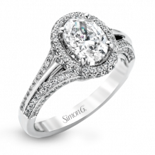 Simon G. 18k White Gold Diamond Engagement Ring - MR1536