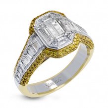 Simon G. 18k Two-Tone Gold Diamond Engagement Ring - MR2676