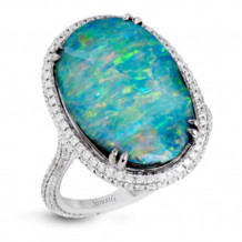 Simon G. 18k White Gold Diamond Ring - MR2407-A