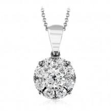 Simon G. 18k White Gold Diamond Pendant - MP1834