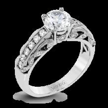 Simon G. 18k White Gold Diamond Engagement Ring - TR634