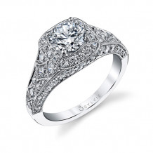 1.19tw Semi-Mount Engagement Ring With 1ct Round Head - s1210