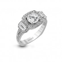 Simon G. 18k White Gold Diamond Engagement Ring - TR446