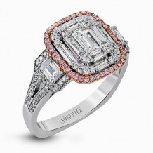 Simon G. 18k Two Tone Gold Diamond Engagement Ring - MR2638