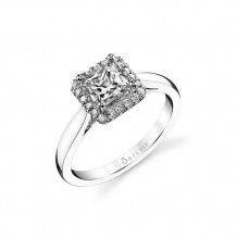 0.16tw Semi-Mount Engagement Ring With 5.5X5.5 Princess - sy729pr