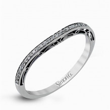 Simon G. 18k White Gold Diamond Wedding Band - MR1691-A