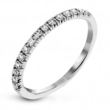 Simon G. 18k White Gold Diamond Wedding Band - MR2905