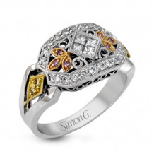 Simon G. 18k White Gold Diamond Ring - LP1111
