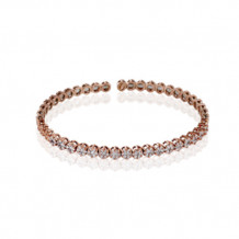 Simon G. 18k Rose Gold Diamond Bangle Bracelet - LB2063-R