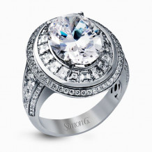 Simon G. 18k White Gold Diamond Engagement Ring - MR2182