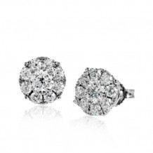 Simon G. 18k White Gold Diamond Stud Earrings - ME1931