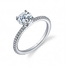 0.30tw Semi-Mount Engagement Ring With 1ct Round Head - sy131