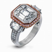 Simon G. 18k Two-Tone Gold Diamond Engagement Ring - LP2061