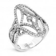 Simon G. 18k White Gold Diamond Ring - TR613