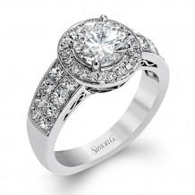 Simon G. 18k White Gold Engagement Ring - MR1708