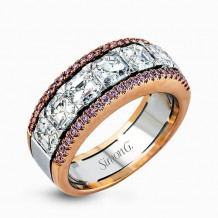 Simon G. 18k Two-Tone Gold Diamond Wedding Band - MR2340
