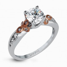 Simon G. 18k Two-Tone Gold Diamond Engagement Ring - MR2646