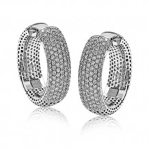 Simon G. 18k White Gold Diamond Earrings - ME1926