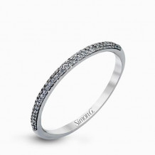 Simon G. 18k White Gold Diamond Wedding Band - MR1906