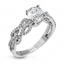 Simon G. 18k White Gold Diamond Engagement Ring - MR2721