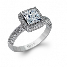 Simon G. 18k White Gold Diamond Engagement Ring - MR1513