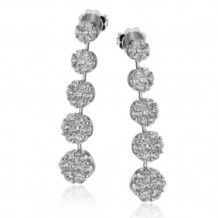 Simon G. 18k White Gold Diamond Earrings - LE4422