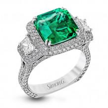 Simon G. 18k White Gold Diamond Ring - MR1974