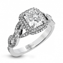 Simon G. 18k White Gold Diamond Engagement Ring - TR395