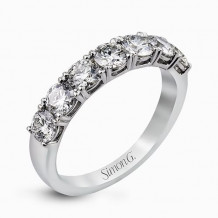 Simon G. 18k White Gold Diamond Wedding Band - MR2070