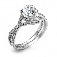 Simon G. 18k White Gold Diamond Engagement Ring - MR1576