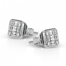 Simon G. 18k White Gold Diamond Earrings - LE4448