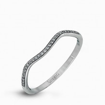 Simon G. 18k White Gold Diamond Wedding Band - MR1395